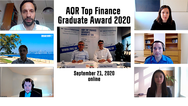 AQR Top Finance grad award winners 2020
