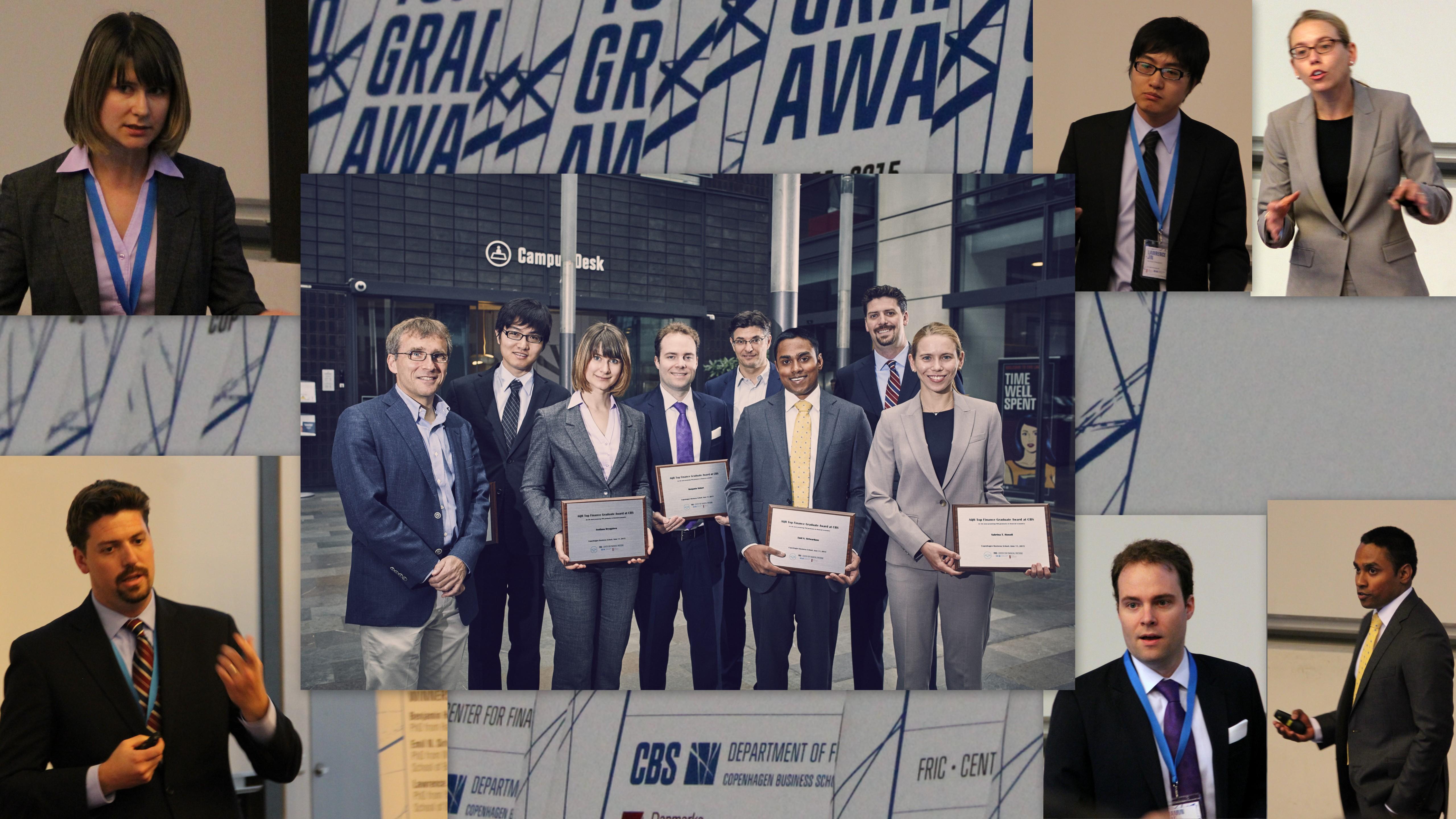AQR Top Finance Graduate Award 2015 collage