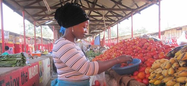 Market in Kampala, Uganda