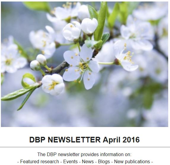 DBP Newsletter April 2016
