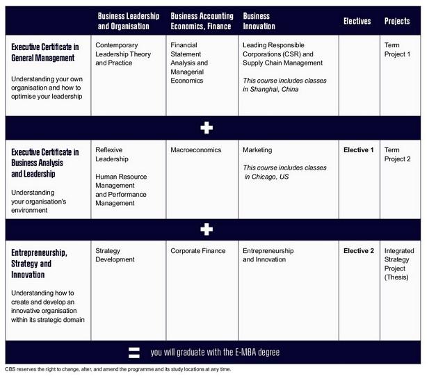 CBS Exec Certificates course outline