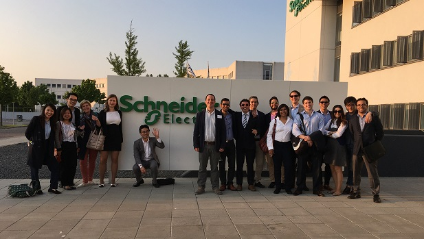 Copenhagen MBA class of 2016 visiting Schneider Electric