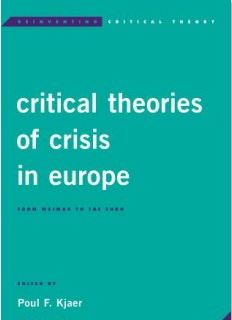 critical theories of crisis in europe