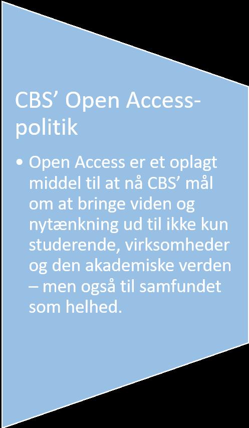 CBS Open Access-politik
