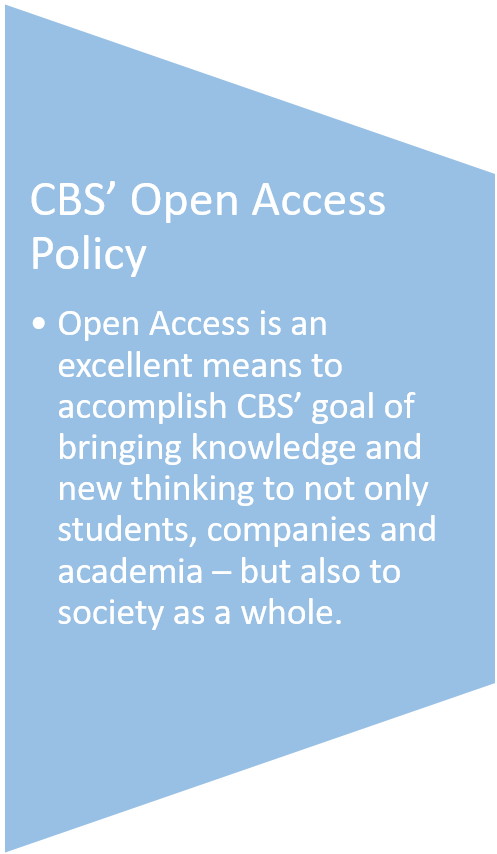 CBS Open Access policy