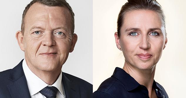 Mette Fredriksen S og Lars Løkke Rasmussen V