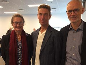 Mikkel Larsen with Dorte Salskov-Iversen and Søren Hvidkjær