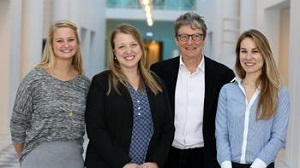PhDs Erin Leitheiser and Luisa Murphy, with Professor Jeremy Moon and Research assistant Louise Thomsen