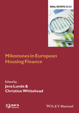 Bog Jens Lunde  Milestones in European Housing Finance