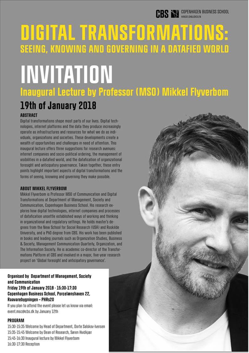 Mikkel Flyverbom - Inaugural lecture