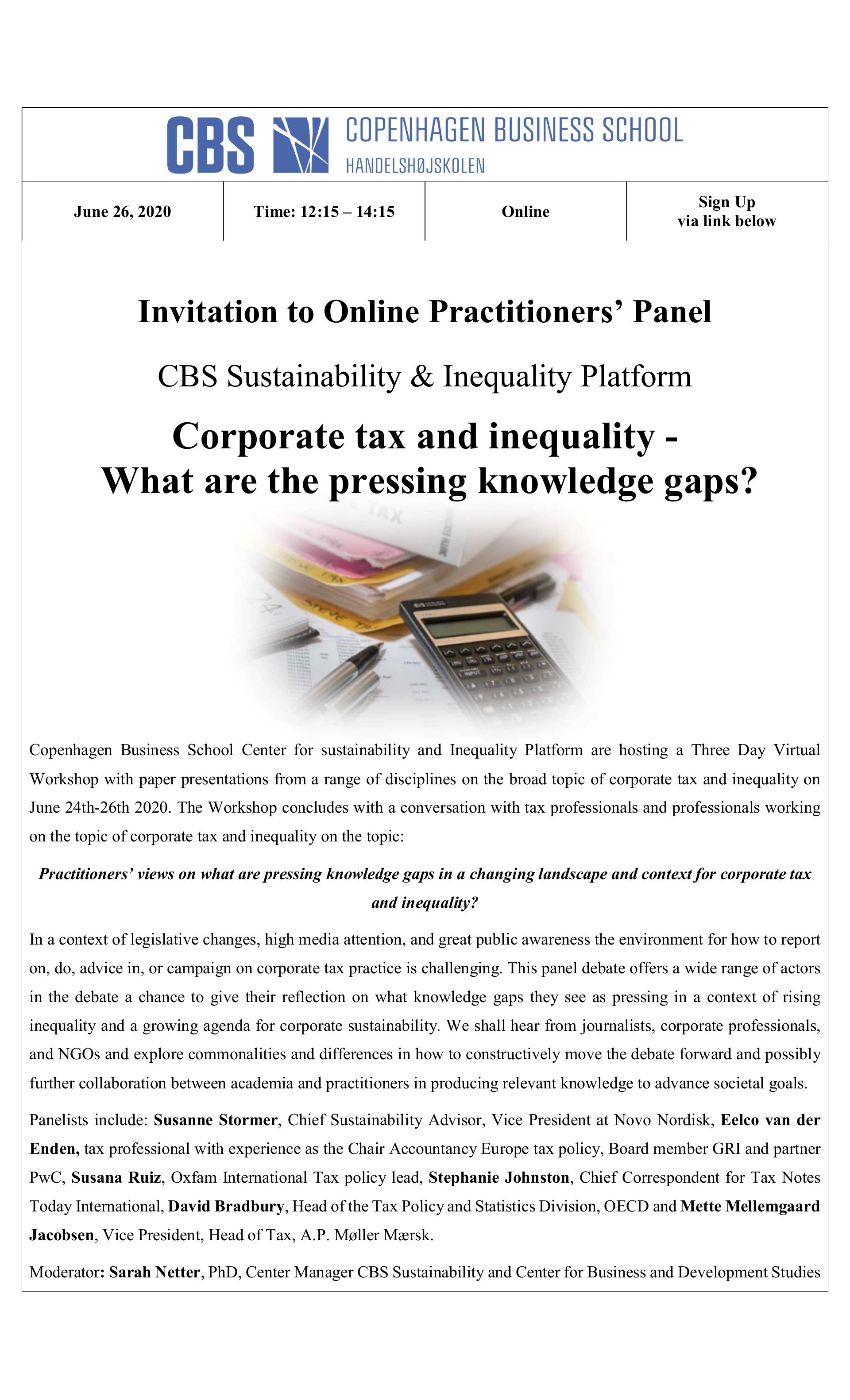 Practitioners' Panel Invitation