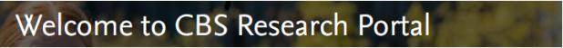 CBS Research Portal
