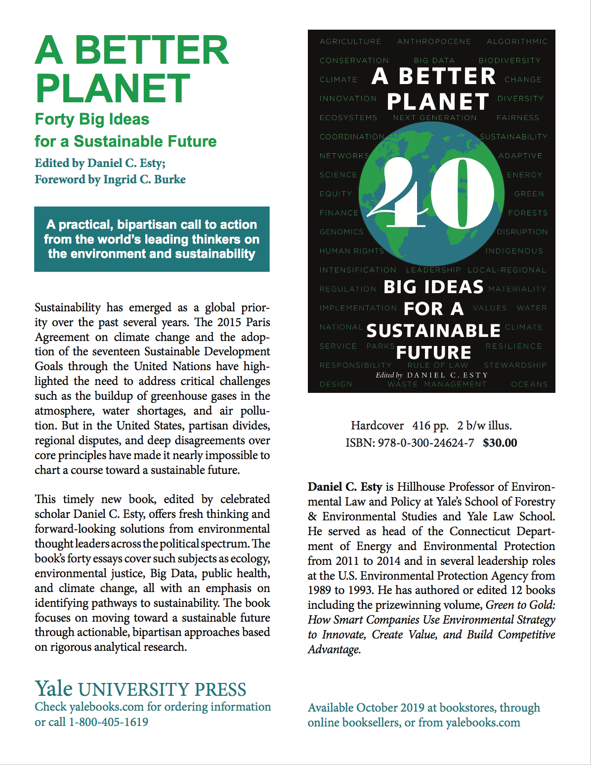 A Better Planet: Fourty Big Ideas for Sustainable Future