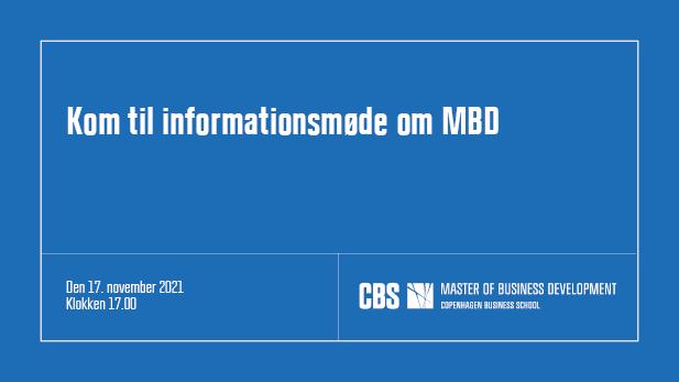 Informationsmøde MBD