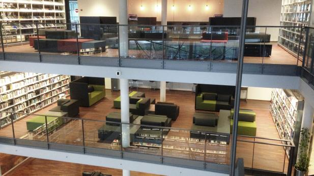 Udsigt til de nye loungeområder