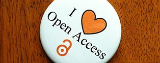 """Badge with the text """"I love Open Access"""""""