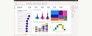 Screen from Microsoft Power Bi