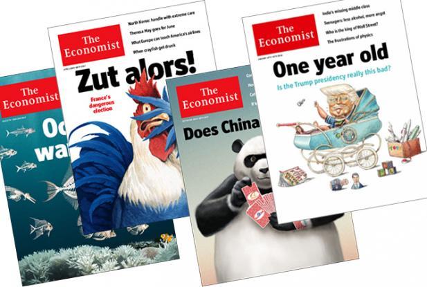 Forsider fra The Economist
