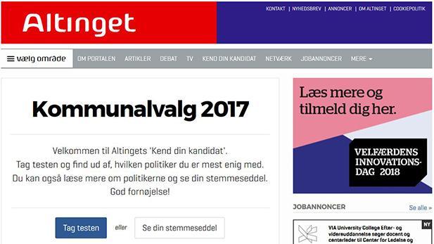 Skærmbillede fra Altinget.dk