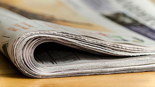 Sammenfoldet avis