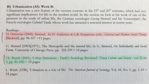 Litteraturliste med overstregninger