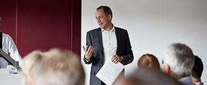 Presentation at a course at Råvarebygningen