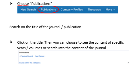 Screenshot from Business Source Alumni Edition