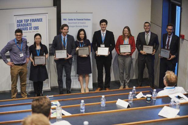 Winners at the AQR Top Finance Graduate Award 2018