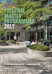 full time master programmes 2017