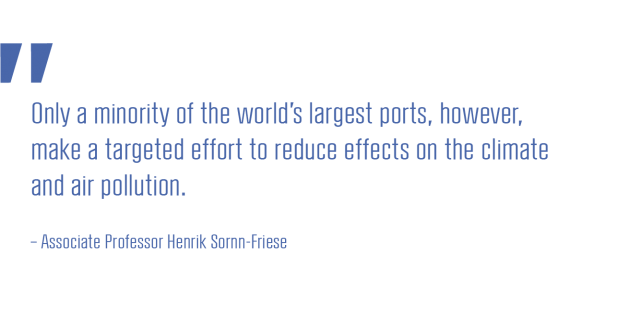 Only a minority of the world's largest ports, however, make a targeted effort to reduce effects on the climate and air pollution_Associate Professor Henrik Sornn-Friese