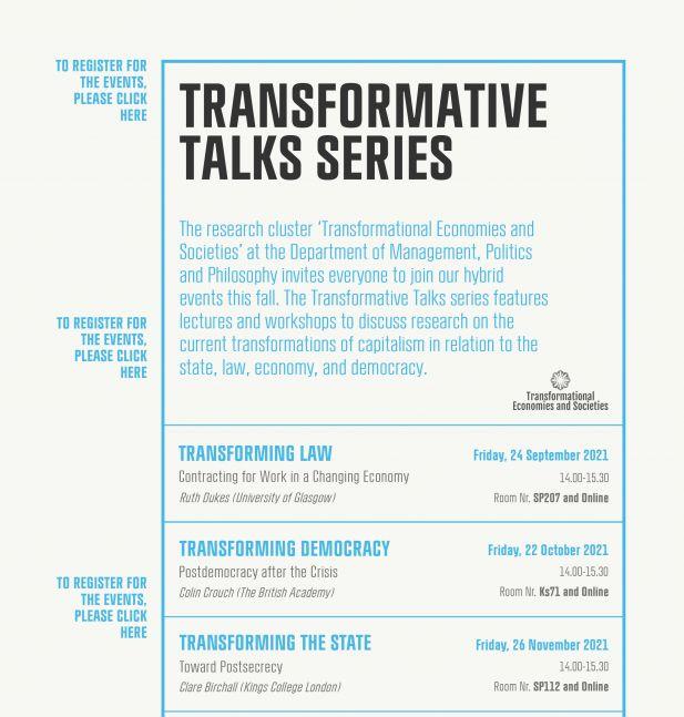Transformative Talks