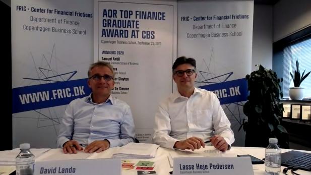 Lasse Heje Pedersen and David Lando AQR Top Finance Grad Award 2020