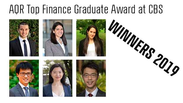 AQR Top Finance Graduate Award winners 2019