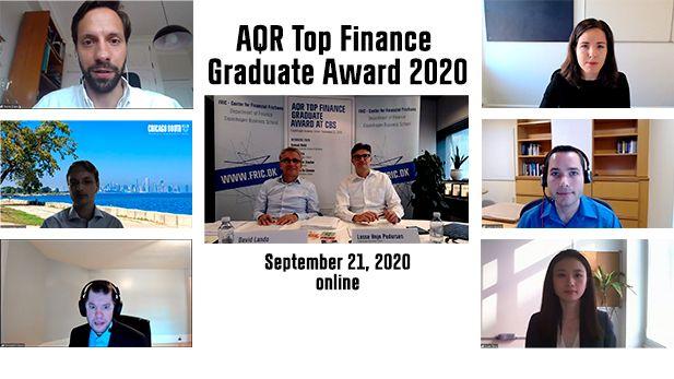 AQR Top Finance grad award winners 2020