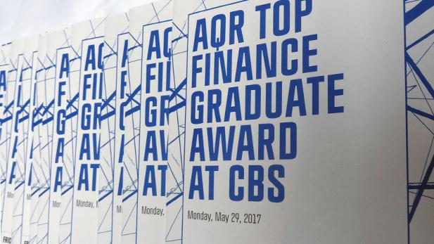 AQR Top Finance Graduate Award winners announced