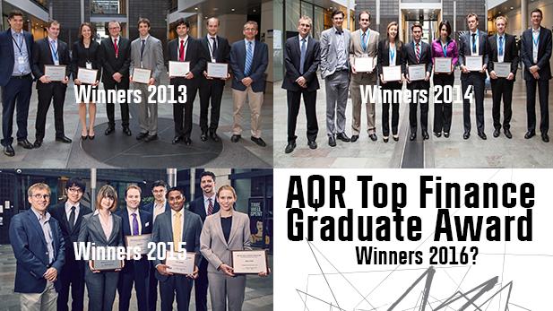 AQR Top Finance Graduate Award 2016
