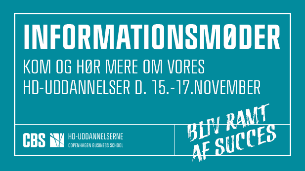 Informationsmøder på HD-uddannelserne d. 15.-17.november