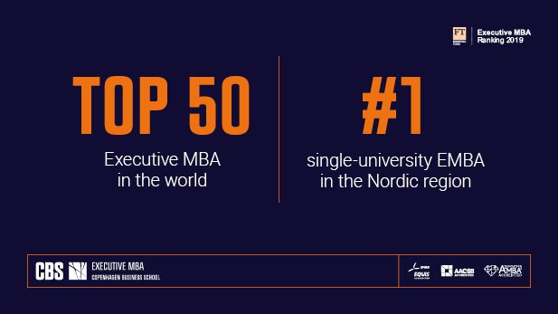 FT EMBA 2019 rank top 50