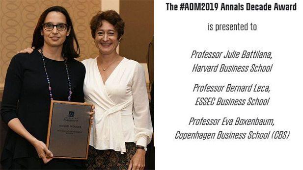 Annals Award Eva Boxenbaum