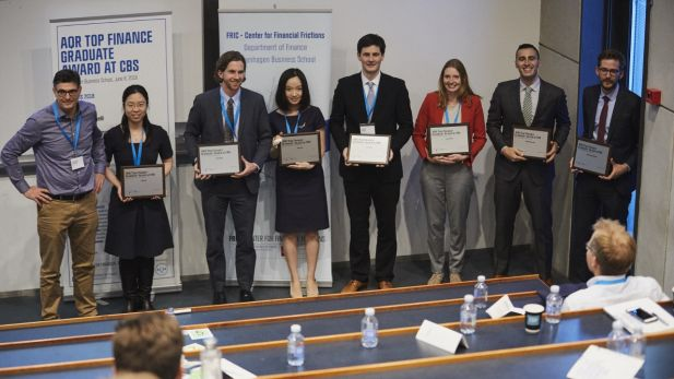 All 7 winners of the AQR Top Finance Graduate Award 2018