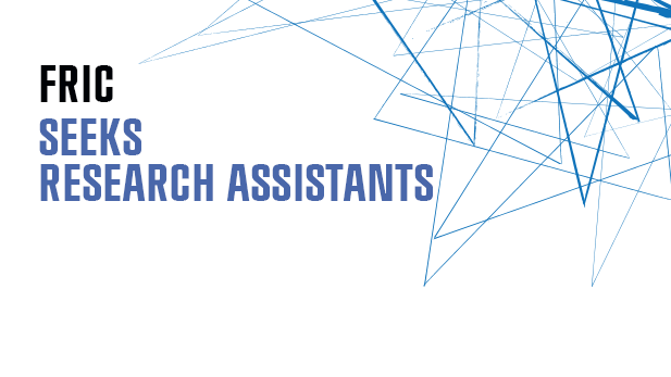 FRIC seeks new student assistants