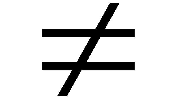 Inequlity symbol
