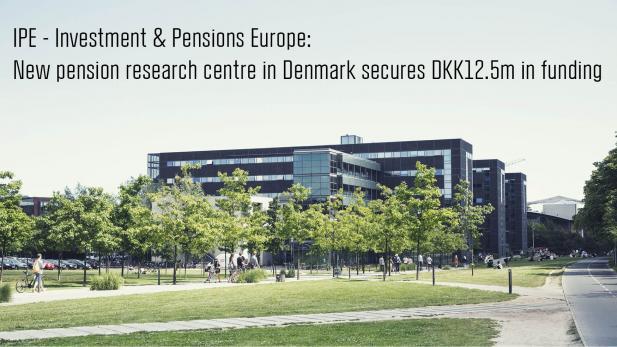 Pension research centre percent cbs copenhagen for Pension kopenhagen