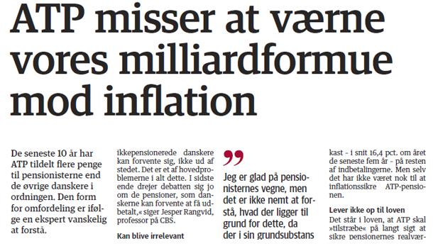 ATP misser at værne om vores milliardformue mod inflation