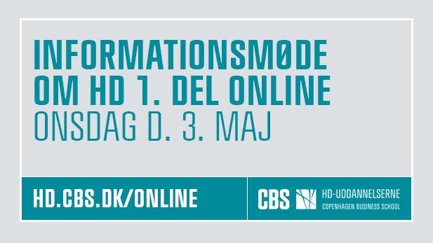 Online Informationsmøde 3. maj