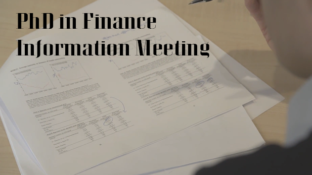 PhD in Finance Information Meeting