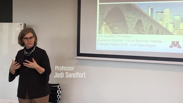 Sandfort presenting