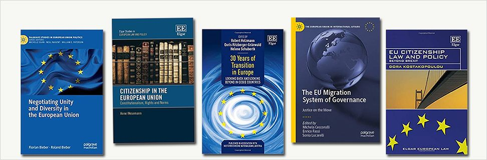 Front covers from new books about EU