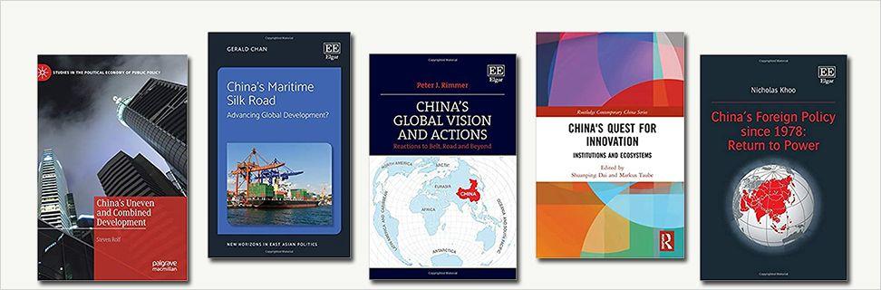Forsider fra nye bøger om Kina