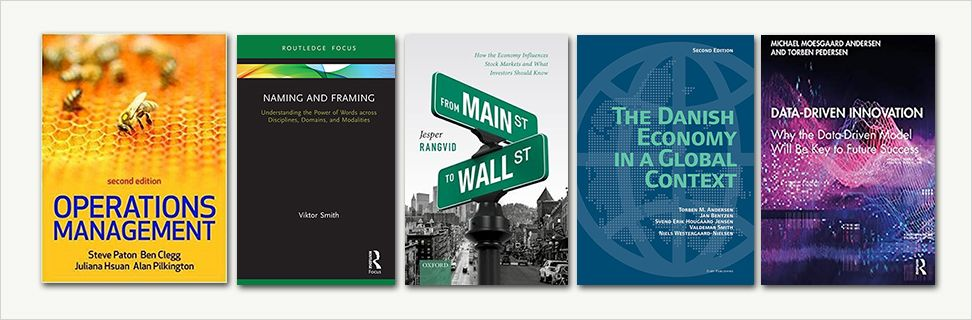 Covers from new books written by CBS researchers